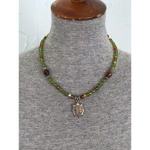 Vintage Sterling Silver Sea Turtle Necklace